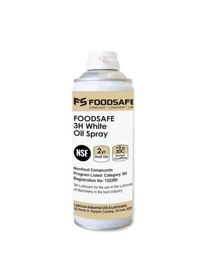 lubricon foodsafe aerosal 3H white oil spray